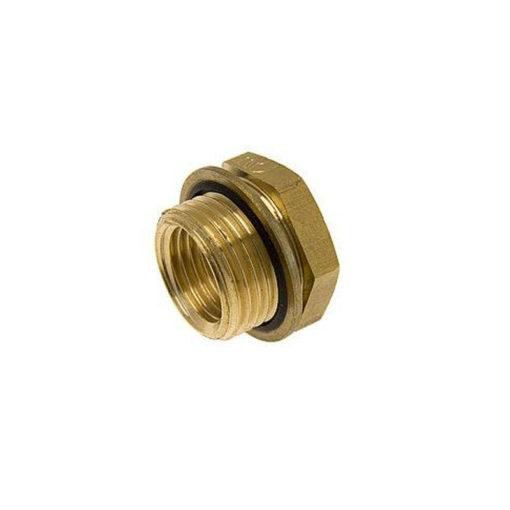 Brass reducing bush with Bi-Material Seal BSPP